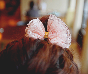 beautiful, bow, and girl image