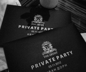 black, invitation, and private party image