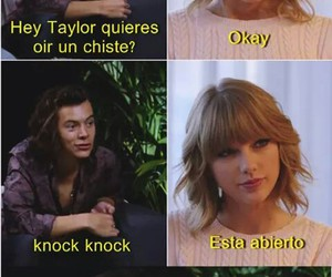 funny, harry and taylor, and joke image