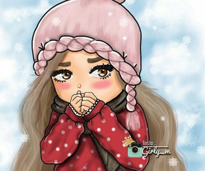 girl, girly_m, and cold image