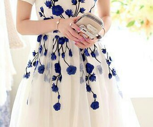 beauty, blue, and white image