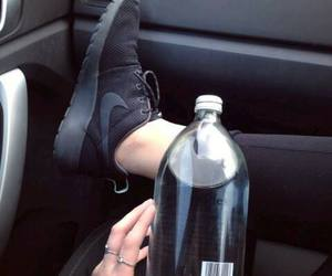 black, nike, and water image