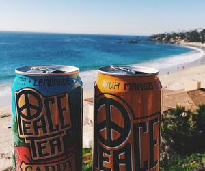 drink, food, and sea image
