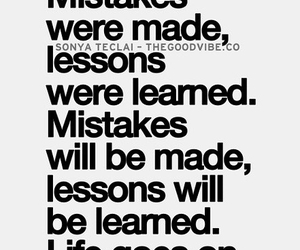 learn, mistake, and life image