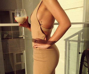 alcohol, beautiful, and beige image