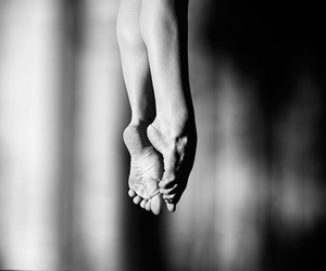 ballet, feet, and black image