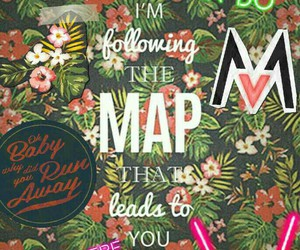 Collage, maps, and maroon 5 image