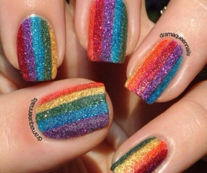 nails, colourful, and rainbow image