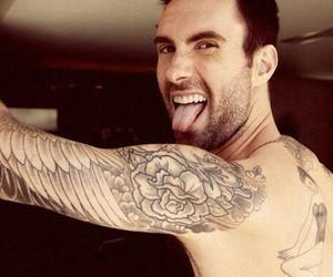 adam levine, maroon 5, and tattoo image