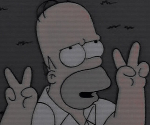 simpsons, homer, and peace image