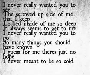 cold, Lyrics, and music image