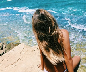 beach, paradise, and blonde image