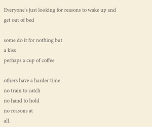 bed, coffee, and depressed image