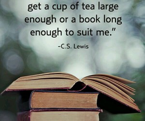 book, tea, and quotes image
