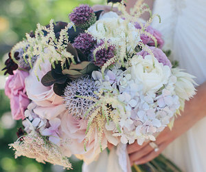 bouquet, bridal, and hydrangea image