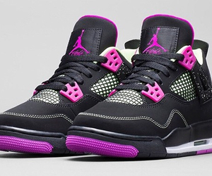 jordan, black, and pink image
