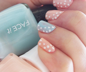 nails, pretty, and mint image