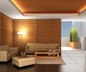 room dividers, half wall paneling, and modern room divider image