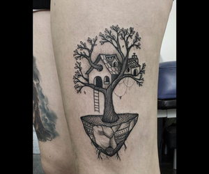 art, paradise, and tattoo image