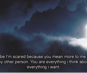 love, quote, and scared image