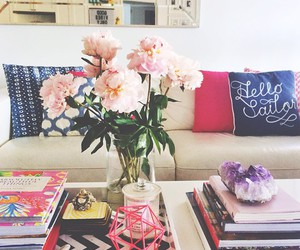flowers, book, and decor image