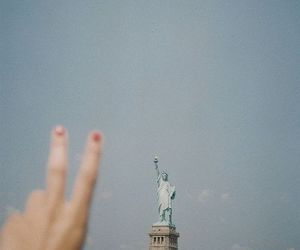new york, peace, and sky image