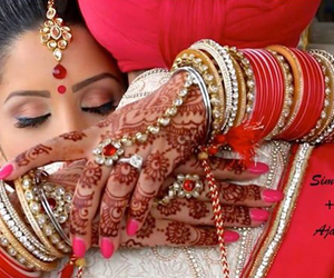 bride, henna, and indian image