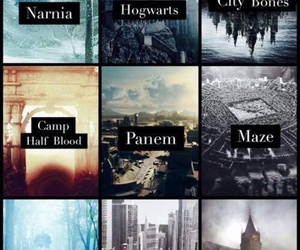 narnia, book, and hogwarts image