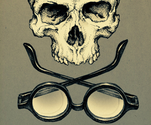 glasses and skull image