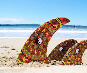 beach, vibe, and board image