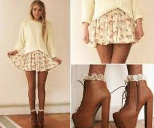 cool, girl, and skirt image