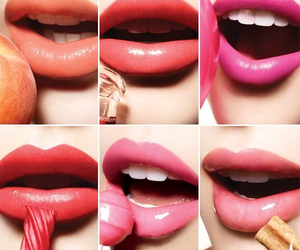 lips, pink, and colors image