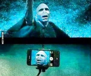 harry potter, voldemort, and selfie image