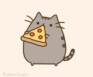 pizza, cat, and pusheen image