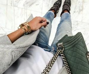 fashion, jeans, and stylish image
