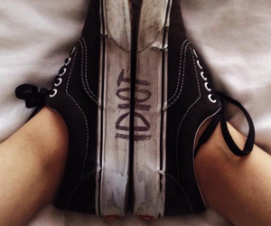idiot, vans, and shoes image