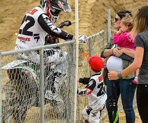 baby, bike, and family image