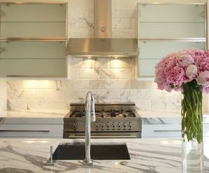 kitchen, design, and flowers image