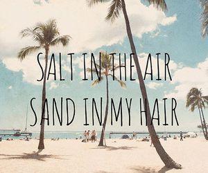beach, salty air, and hair image