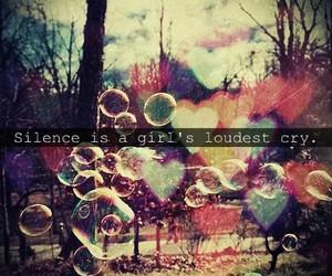 girl, cry, and silence image