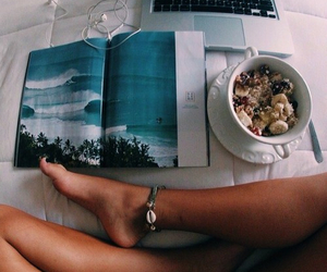 apple, beach, and bracelet image