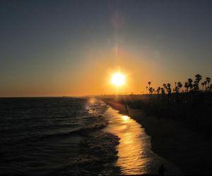 beach, california, and ocean image