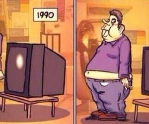tv, funny, and fat image