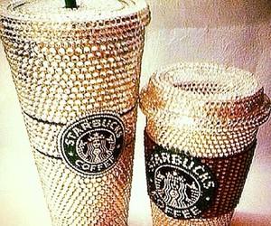 starbucks, coffee, and diamond image