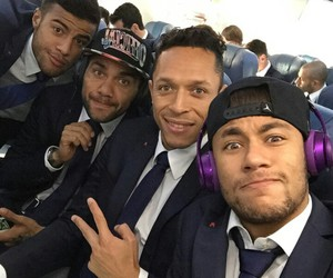 neymar, dani alves, and Barca image