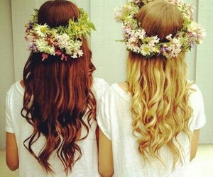 best friends, hair, and hipster image