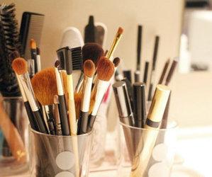 Brushes, make-up, and fashion image