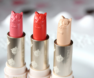 cat, make-up, and lipstick image