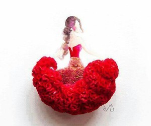 dress, flower, and passion image