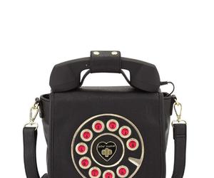 phone, crossbag, and vintage image